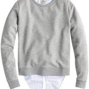 J. Crew Tie Back Sweatshirt Sz XL